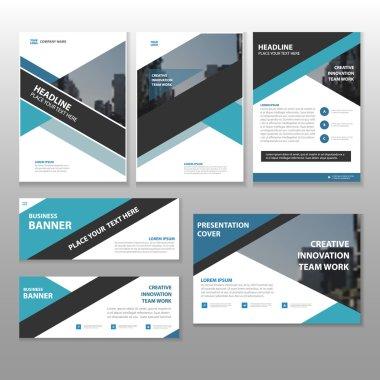 Blue black Multipurpose corporate annual report brochure flyer l