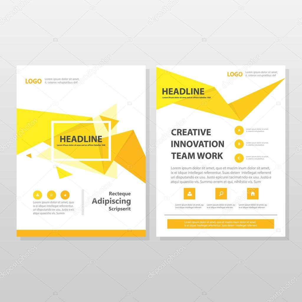 Gelb orange Dreieck Vektor jährlichen Bericht Broschüre Broschüre ...