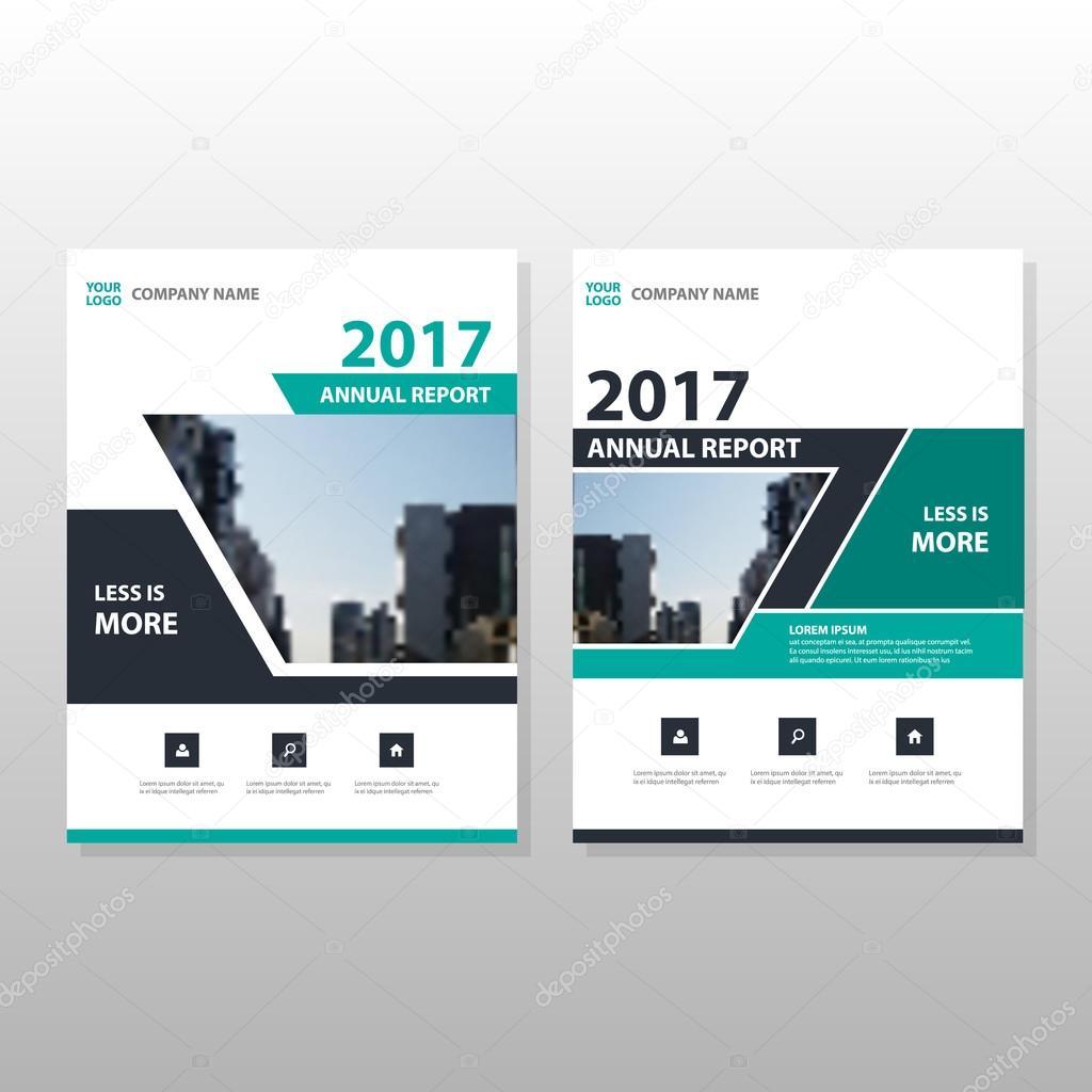 Grün Schwarz jährlichen Bericht Broschüre Broschüre Flyer Template ...
