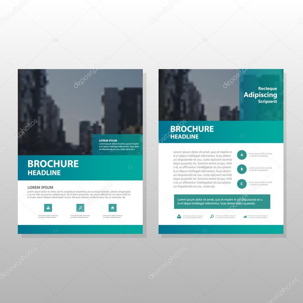 Grüne Vektor Geschäftsbericht Faltblatt Broschüre Flyer Template ...