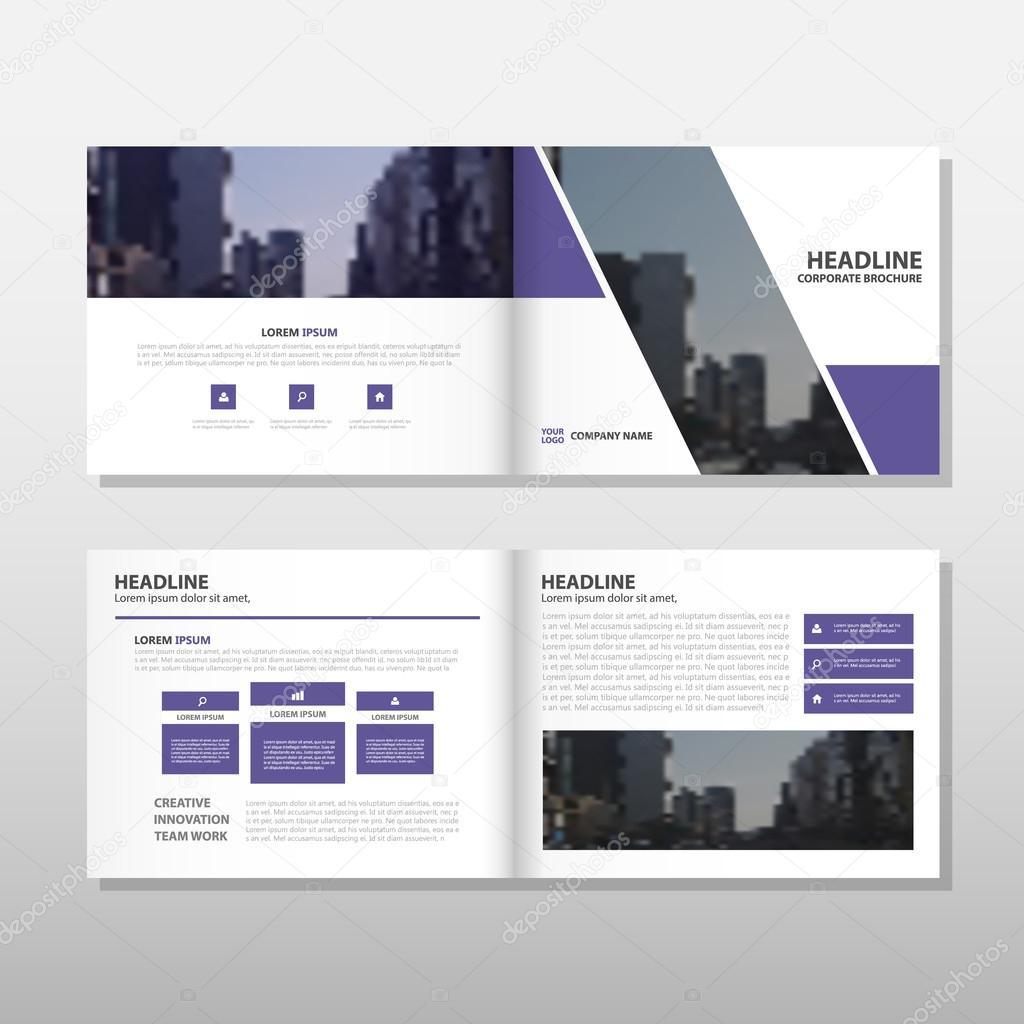 Lila Broschüre Broschüre Flyer jährlichen Bericht Template-Design ...
