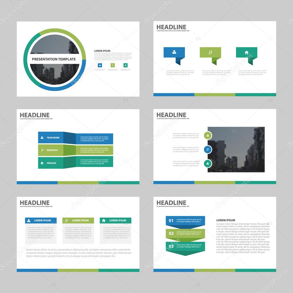 Plantillas de presentación de Resumen de verde azul, diseño de ...