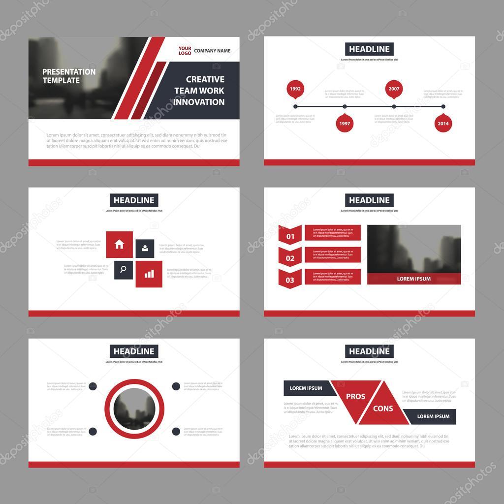 Plantillas de presentación Resumen negro rojo, infografía diseño ...
