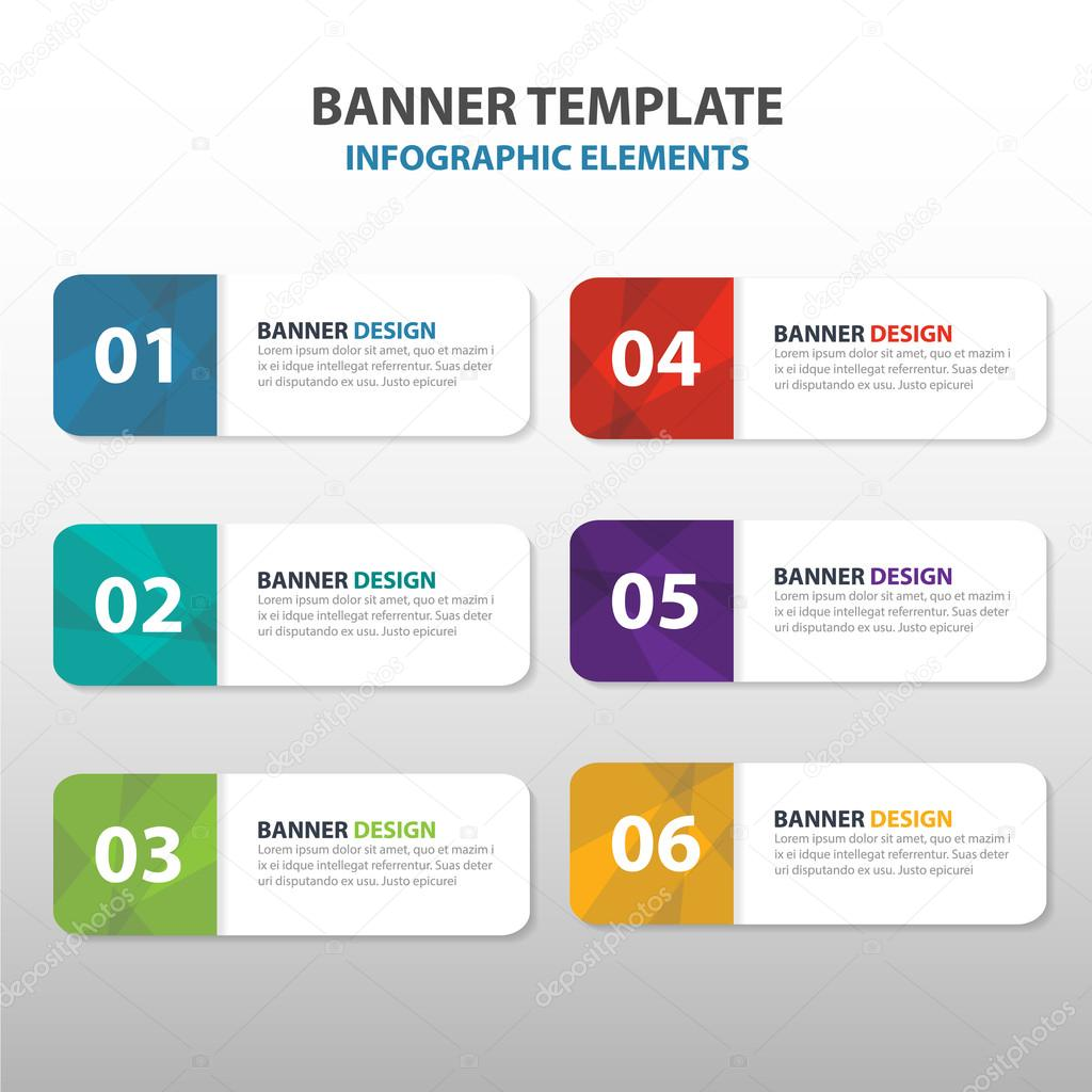 colorful triangle abstract corporate business banner template