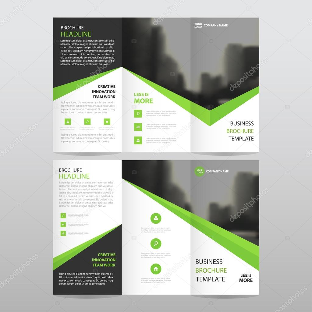 Triángulo negro verde negocio triple folleto folleto folleto Informe ...
