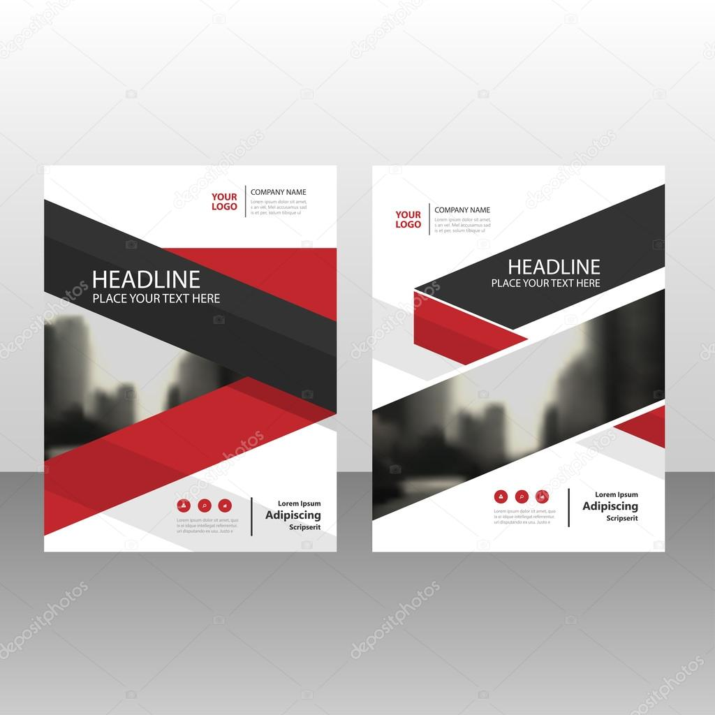 Rot schwarz Vektor Geschäftsbericht Faltblatt Broschüre Flyer ...