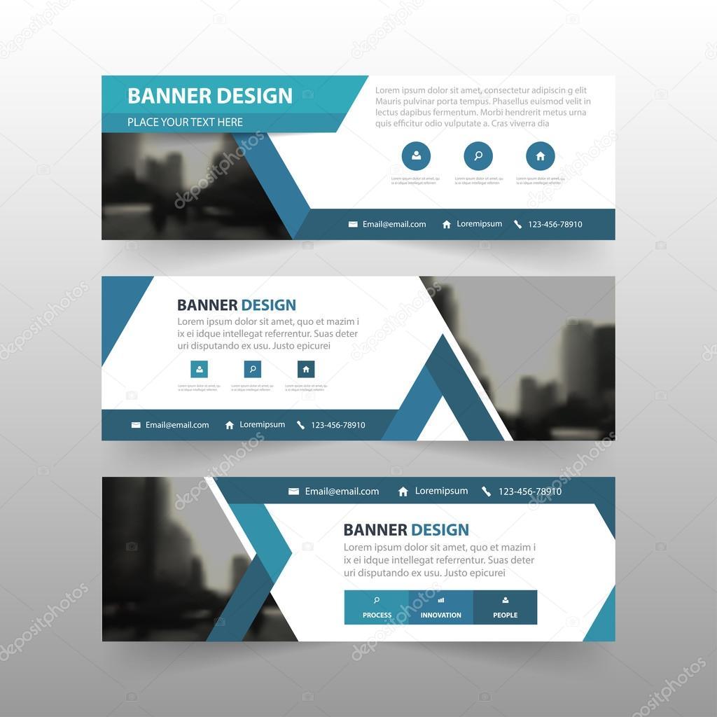 Blaues Dreieck abstrakt corporate Business Banner Vorlage ...