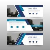 Šablona nápisu modré abstraktní podnikatelské, horizontální reklama podnikání banner rozložení šablony plochý design sada, čisté abstraktní kryt záhlaví pozadí pro webové stránky design