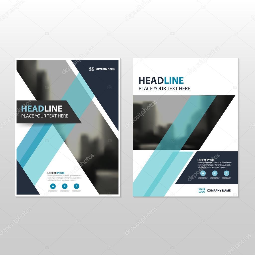 Blaue Vektor jährlichen Bericht Broschüre Broschüre Flyer Template ...