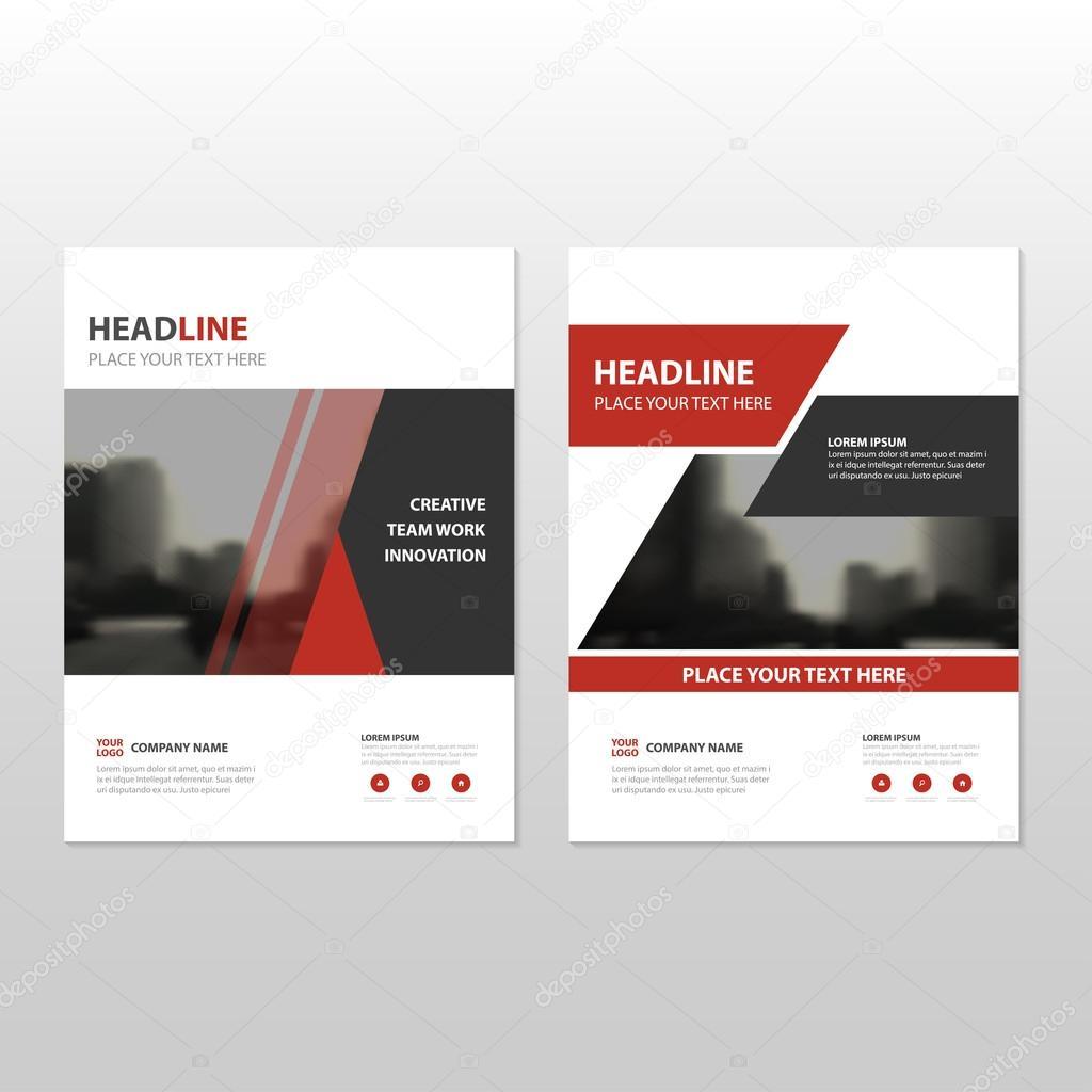Rotes Dreieck Vektor Geschäftsbericht Faltblatt Broschüre Flyer ...