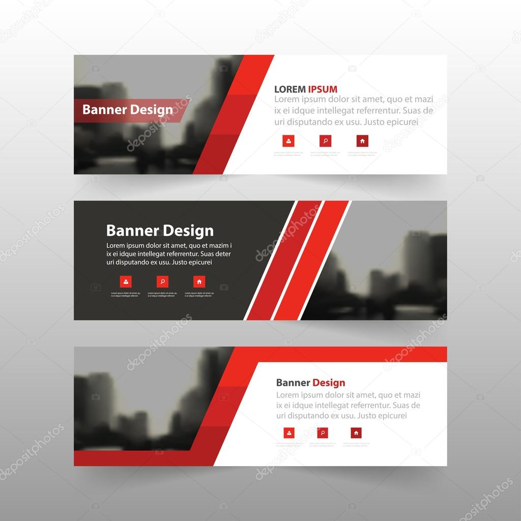 Red black label banner abstract triangle corporate business banner ...
