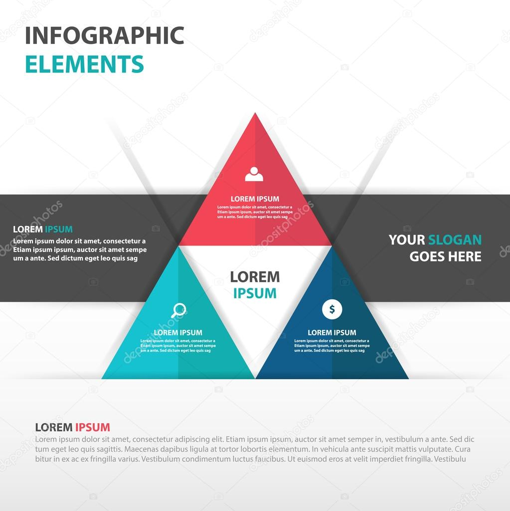 abstract business infographics elements presentation template flat