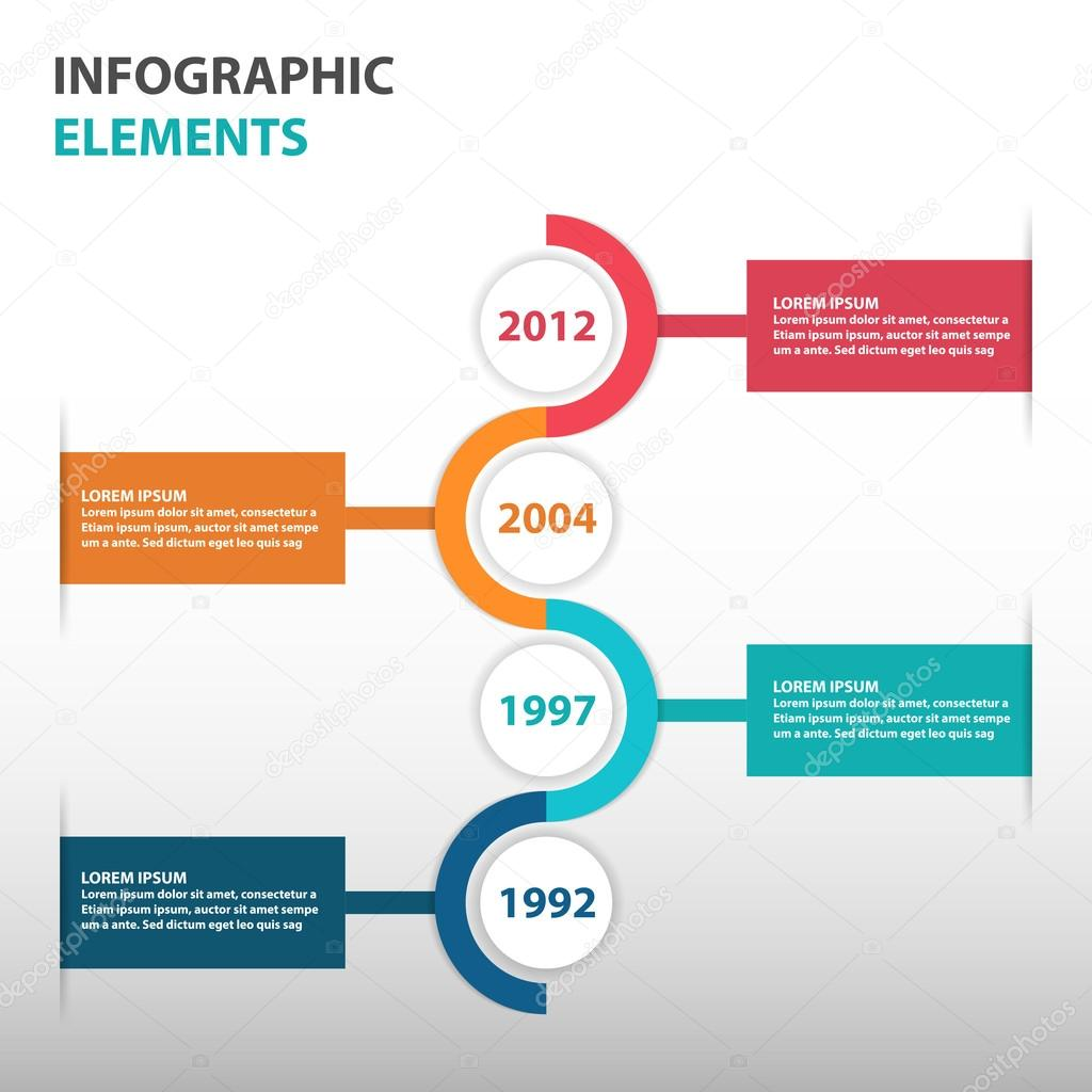 abstract circle business timeline roadmap infographics elements