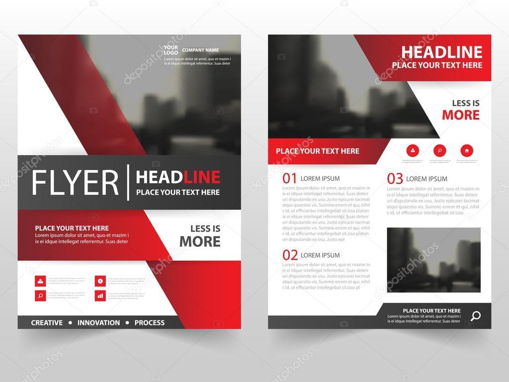 Rot schwarz Vektor Broschüre Broschüre Flyer Template-Design, Buch ...