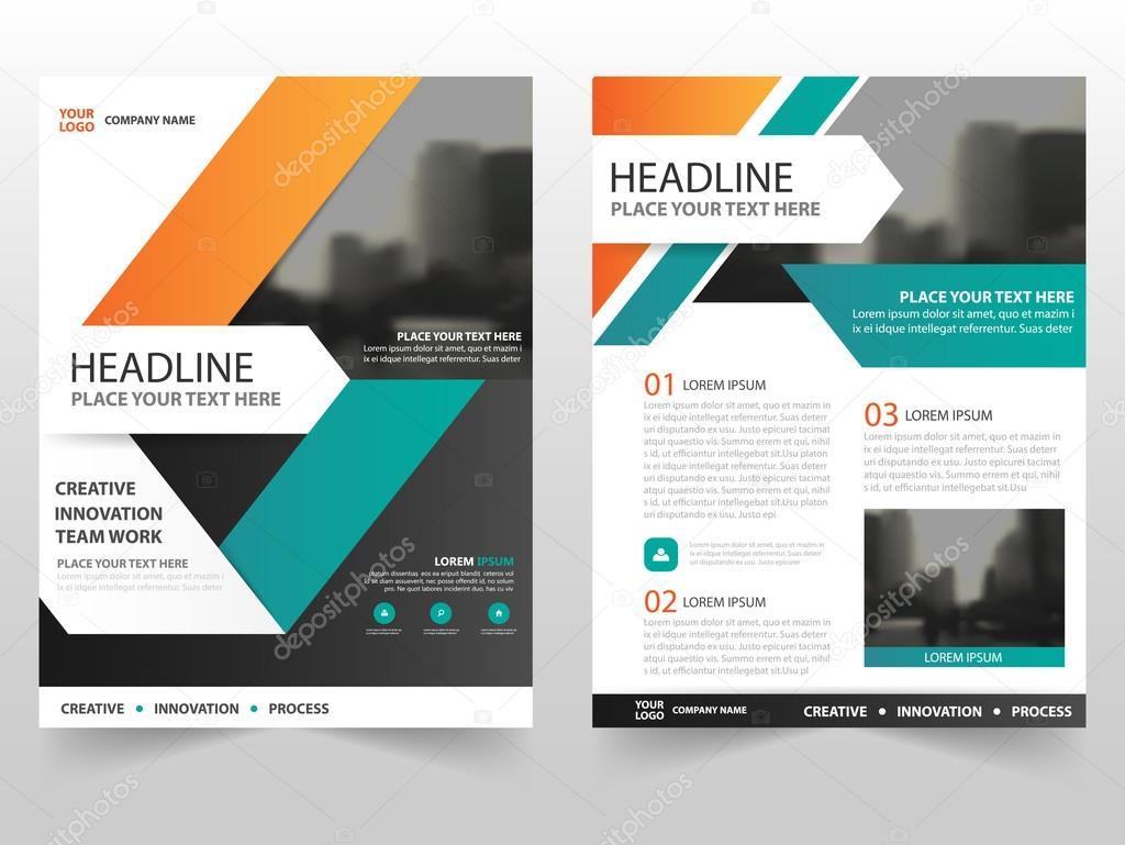 Orange grün Business Broschüre Broschüre Flyer jährlichen Bericht ...