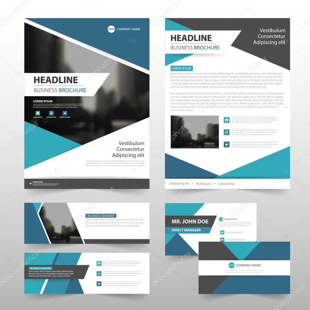 Abstract triangle blue stationery set annual report leaflet flyer abstract triangle blue stationery set annual report leaflet flyer template business banner and business card template for website vetor por new7ducks reheart Image collections