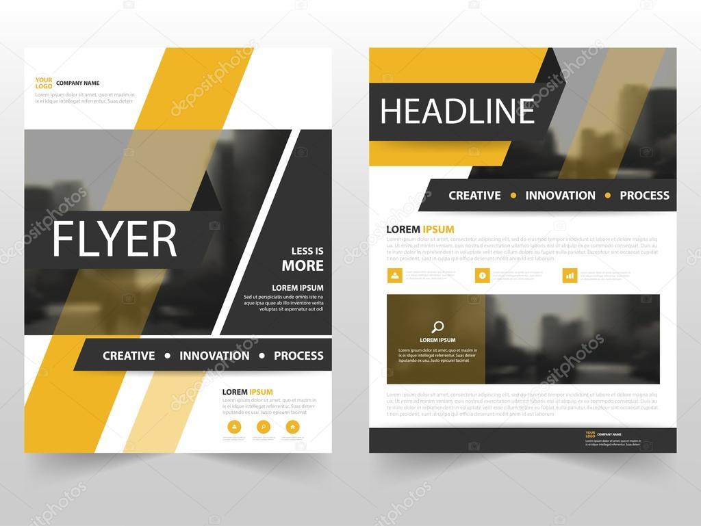 Gelb schwarze Business Broschüre Broschüre Flyer jährlichen Bericht ...