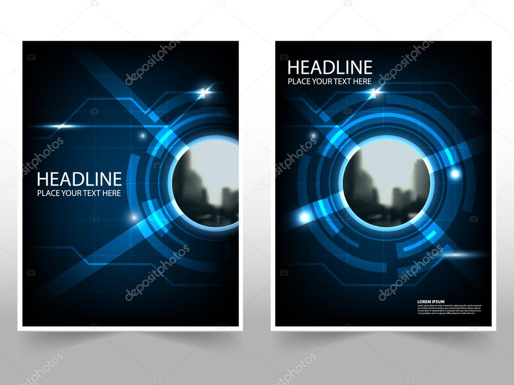 Technology Business Brochure Leaflet Flyer annual report template ...