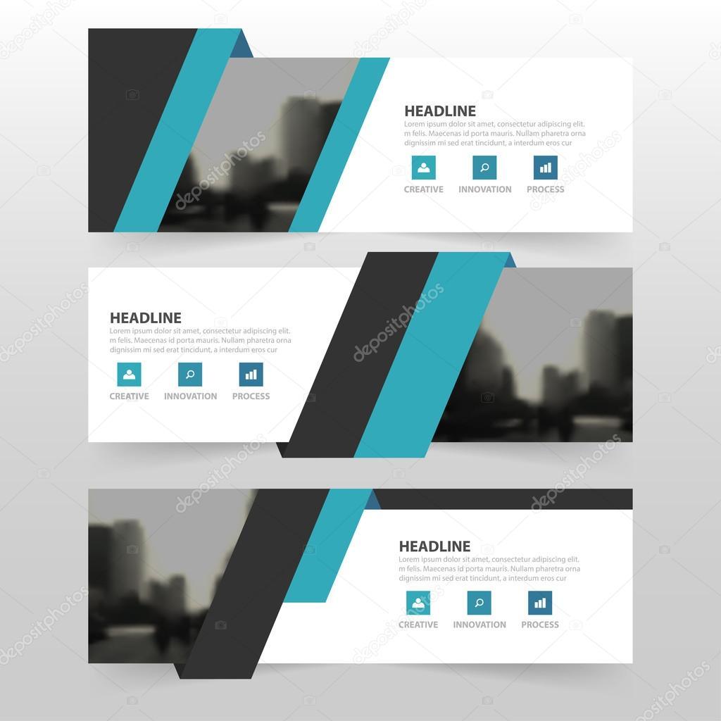 Blau schwarz corporate Business Banner Vorlage, horizontale ...
