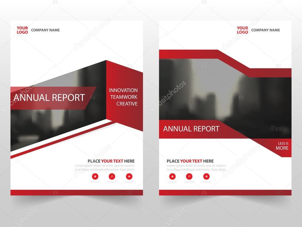 Roten Business Broschüre Broschüre Flyer jährlichen Bericht Vorlage ...