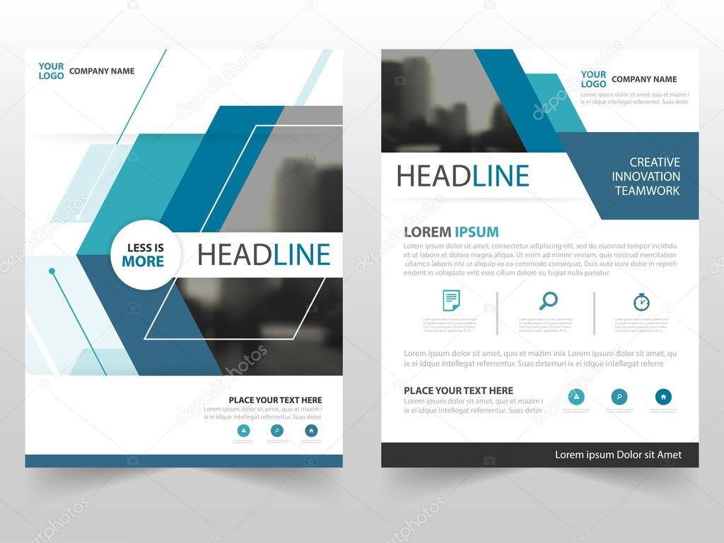 Blau Business Broschüre Broschüre Flyer jährlichen Bericht Vorlage ...