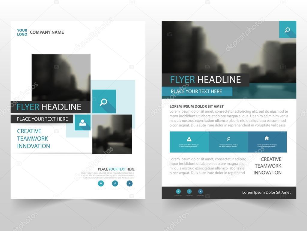 Blaue Quadrat Business Broschüre Broschüre Flyer jährlichen Bericht ...
