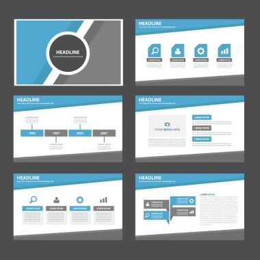 Colorful Infographic elements presentation templates flat design set