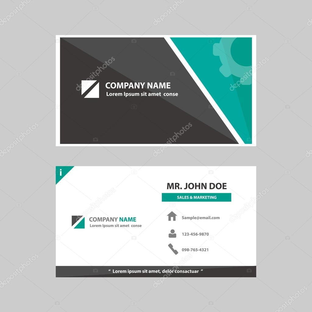 green black multipurpose business profile card template flat design