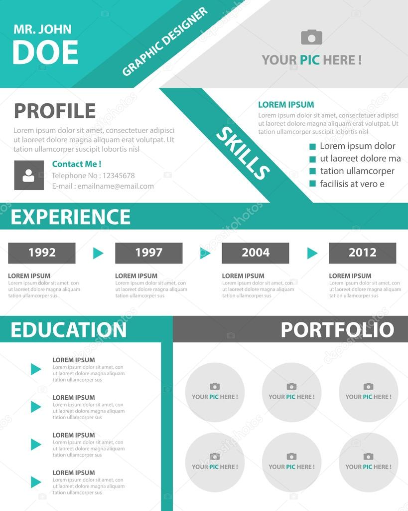 smart creative resume business profile cv vitae template layout flat