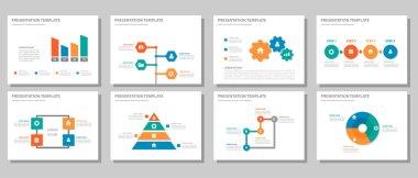 Blue green red orange presentation templates Infographic elements flat design set for brochure flyer leaflet marketing advertising
