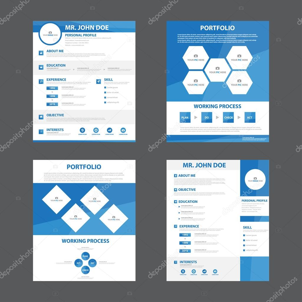 smart creative resume business profile cv vitae template layout flat design for job application