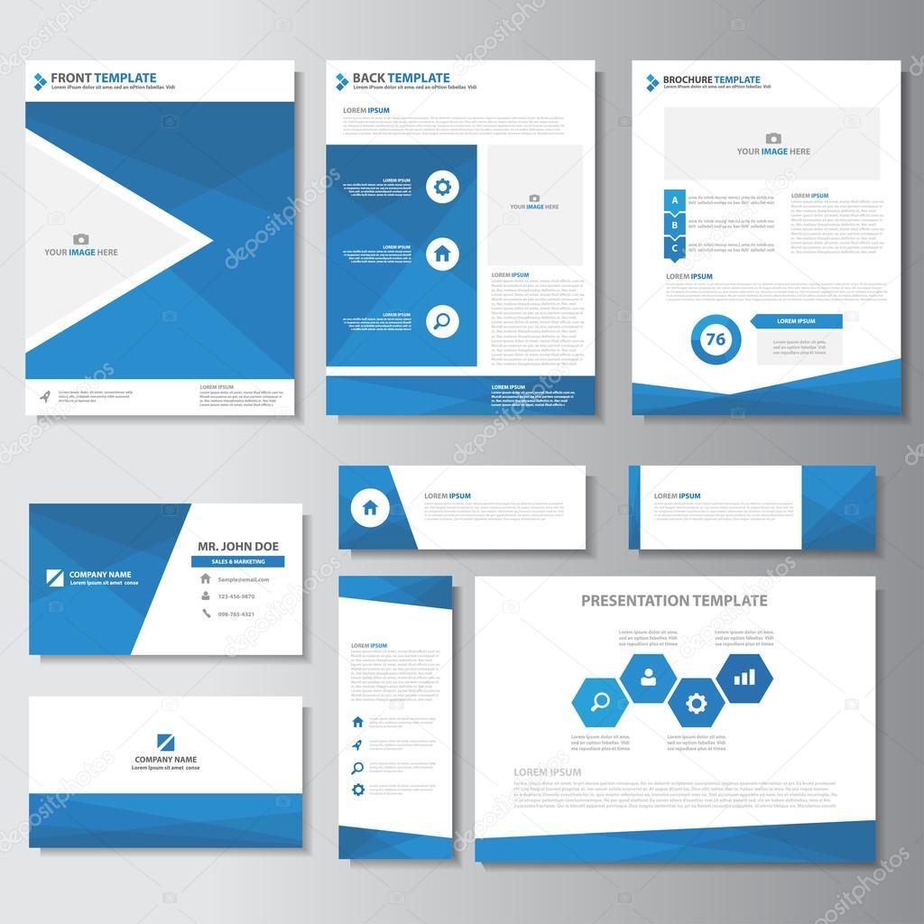 Azul elementos de infografía empresarial presentación plantillas ...