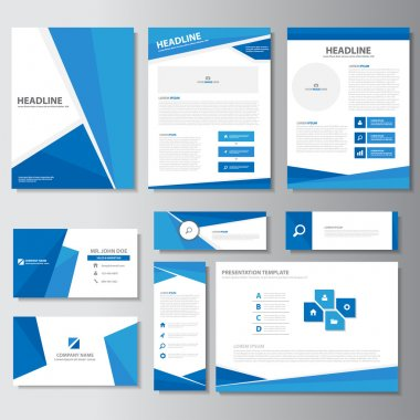 Green business presentation templates Infographic elements flat design set for brochure flyer leaflet marketing advertising