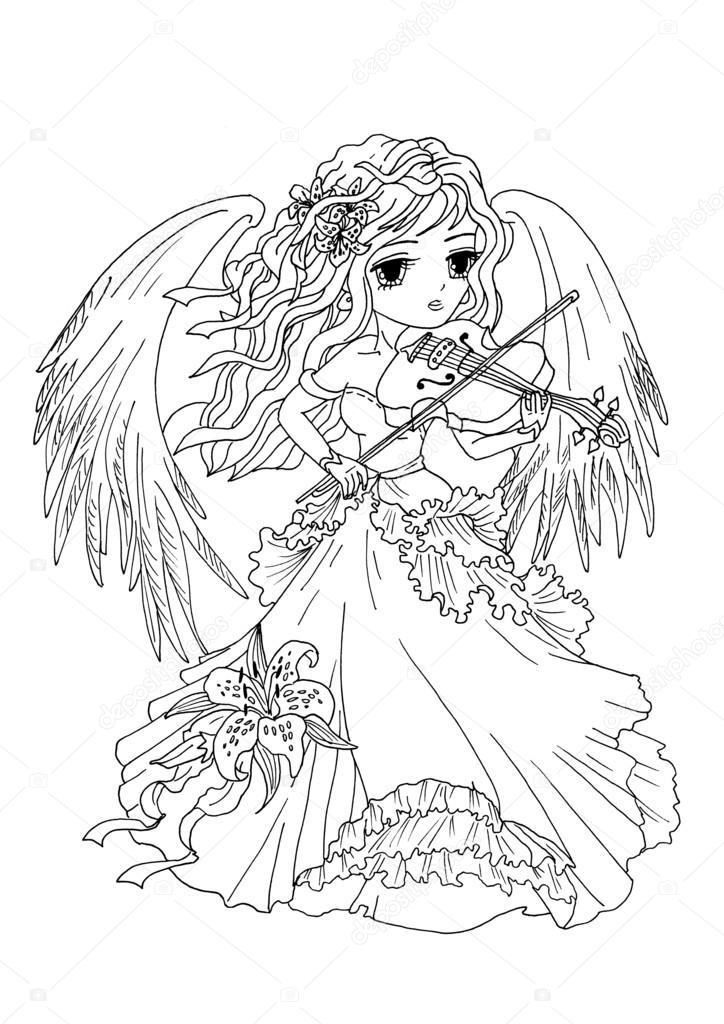 Imágenes: angel para colorear | Página el ángel para colorear es ...
