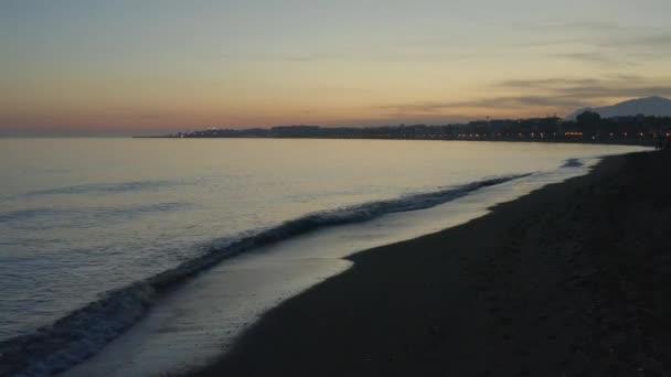 nice sunset on the beach of Ancn, Marbella