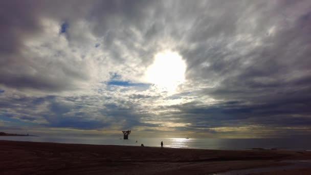 Beautiful sunrise on a beach in Marbella, Andalusia