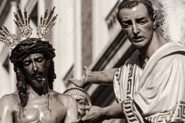Jesus before Pilate, Holy Week in Seville, Brotherhood of San Benito