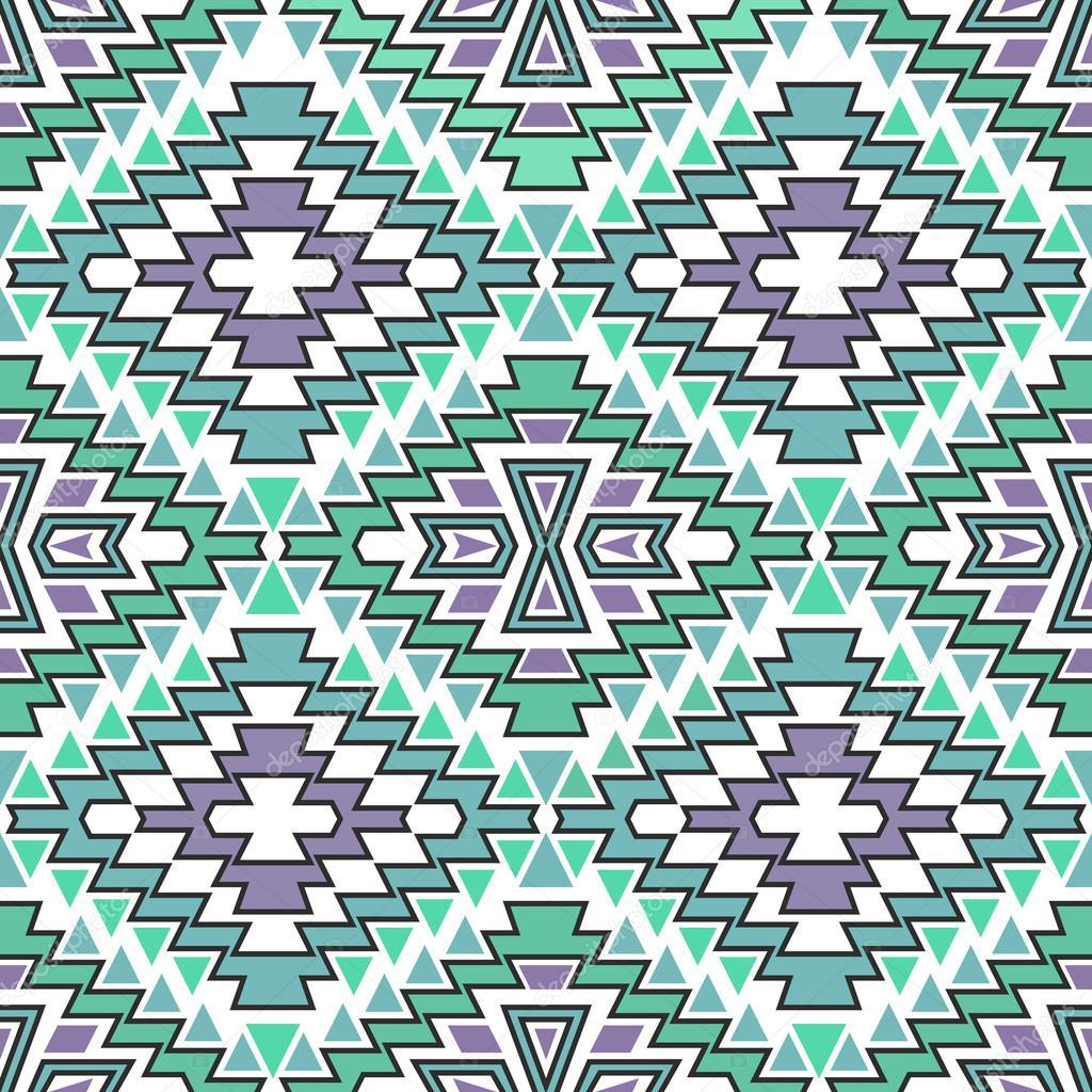 nahtlose boho chic muster mit ethnischen motiven der azteken abstraktes vektor tapete im mexikanischen folklore stil vektor von krasnykhsashagmailcom - Boho Muster