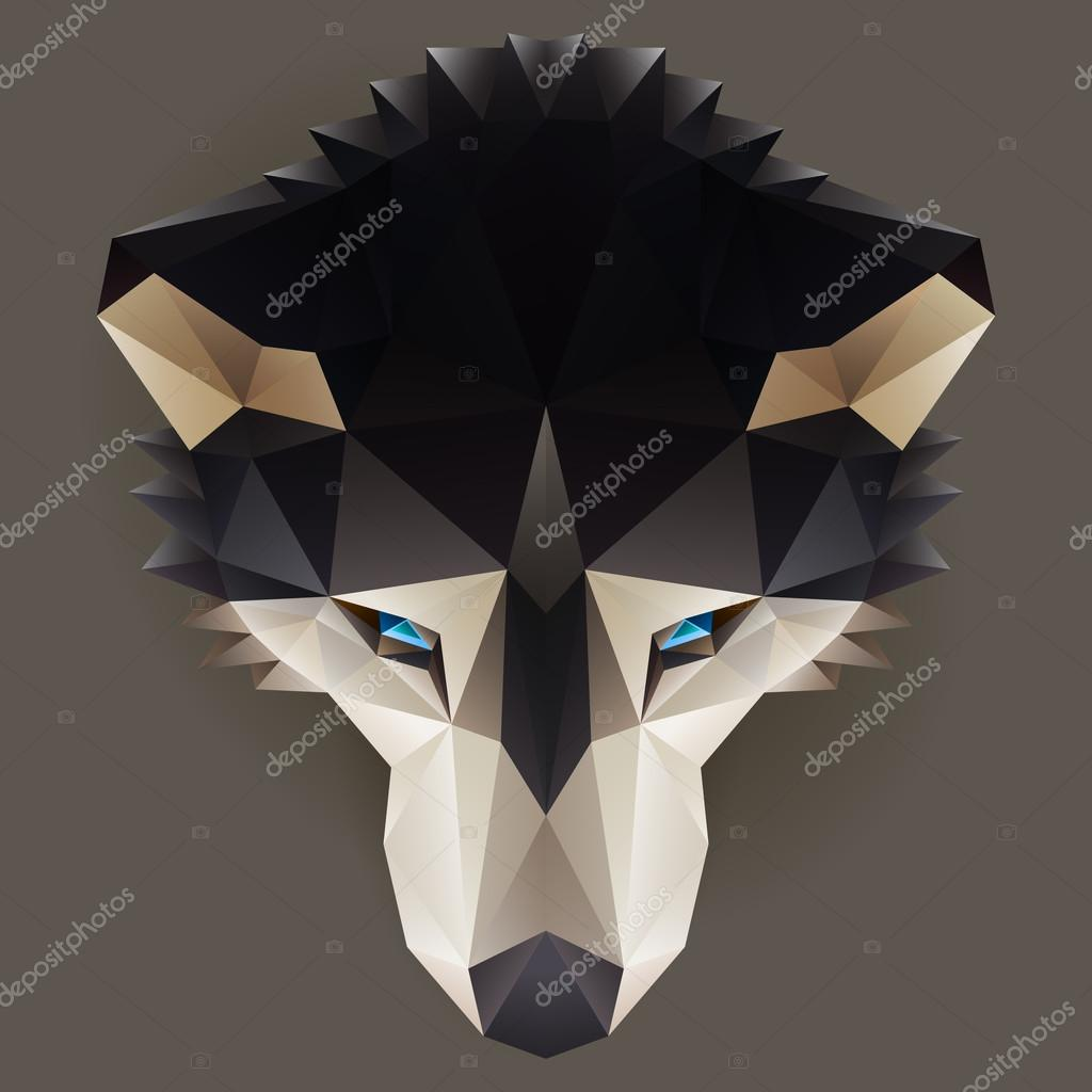 Vector low poly husky