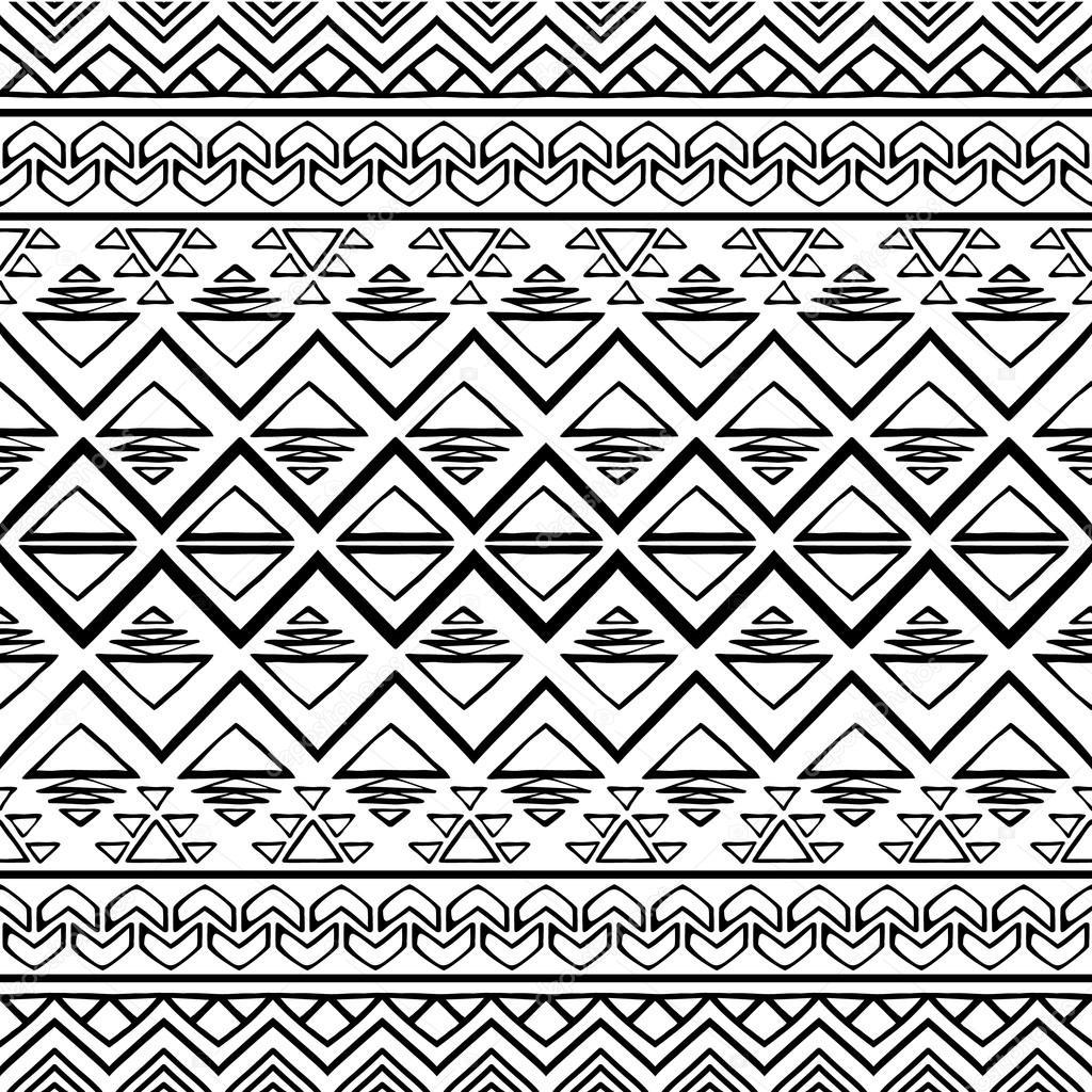 hand gezeichneten nahtlose muster im boho chic stil abstrakt wallpaper mit ethnische aztekische verzierung vektor von krasnykhsashagmailcom - Boho Muster