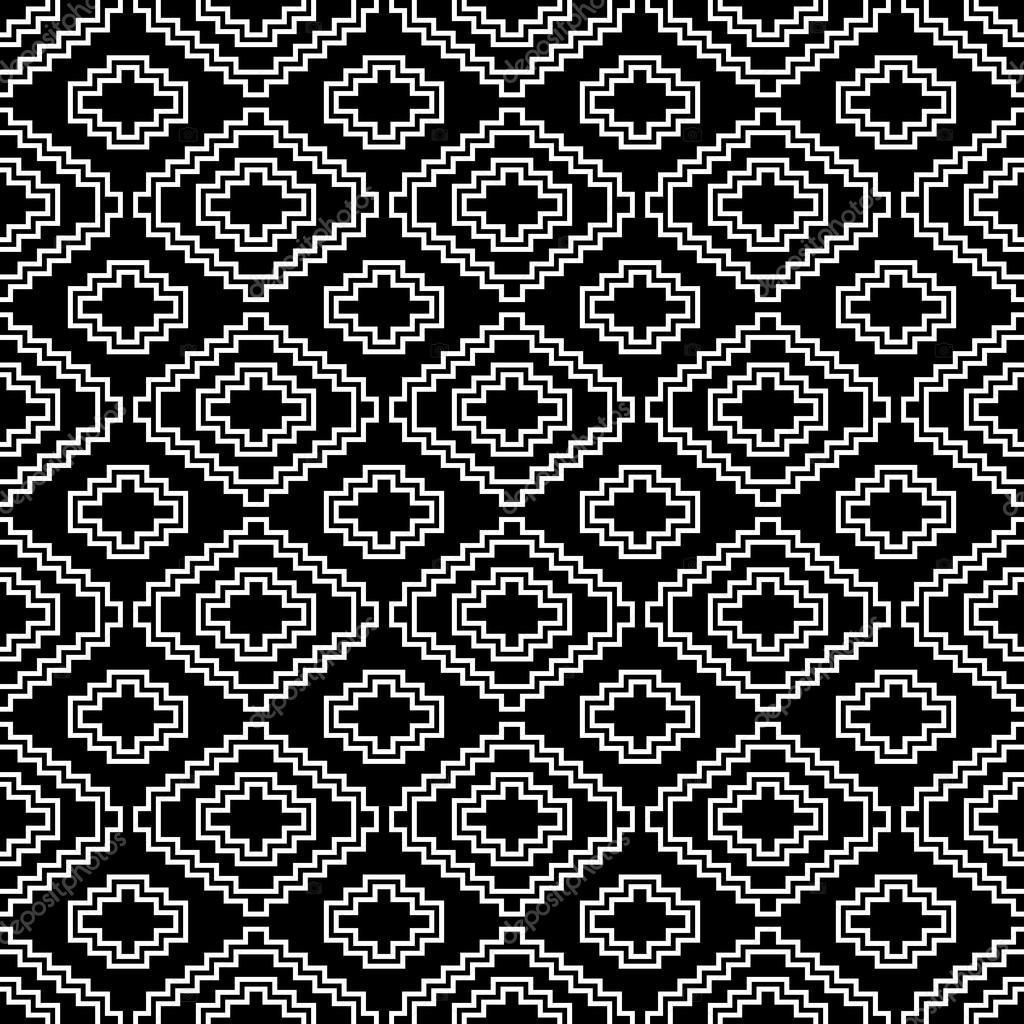 abstrakte aztekische nahtlose muster boho entwurf schwarzer hintergrund vektor von krasnykhsashagmailcom - Boho Muster