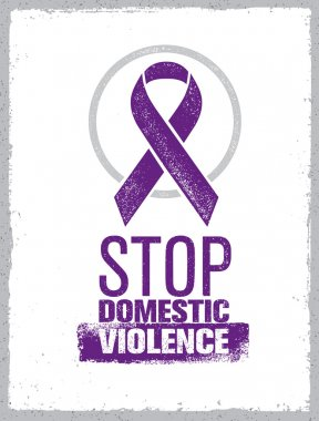 Stop Domestic Violence Stamp. Creative Vector Design Element Concept