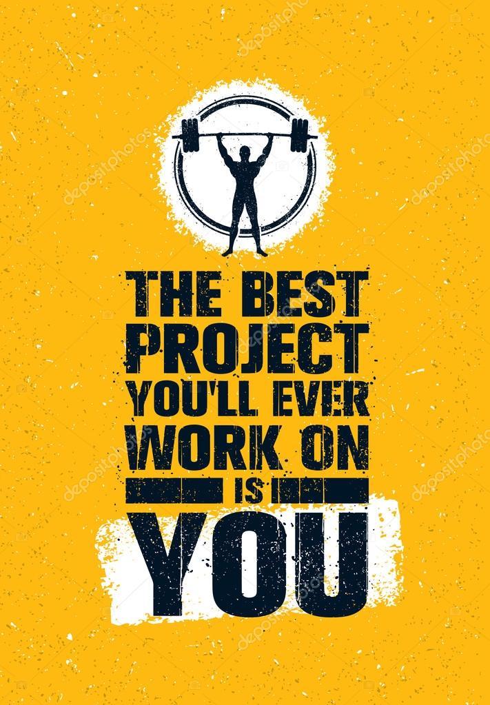 gym workout creative motivation quote ストックベクター wow
