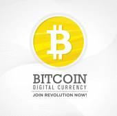 Fotografie Bitcoin digitale Währung Gestaltungselement