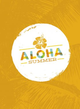 Aloha Hawaii Creative Design Element