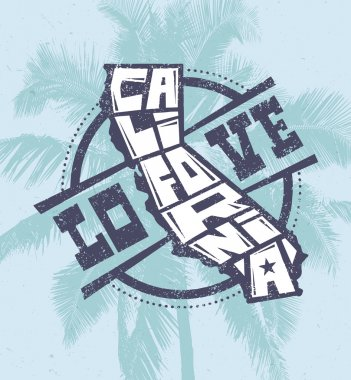 Love California Creative T-shirt Print