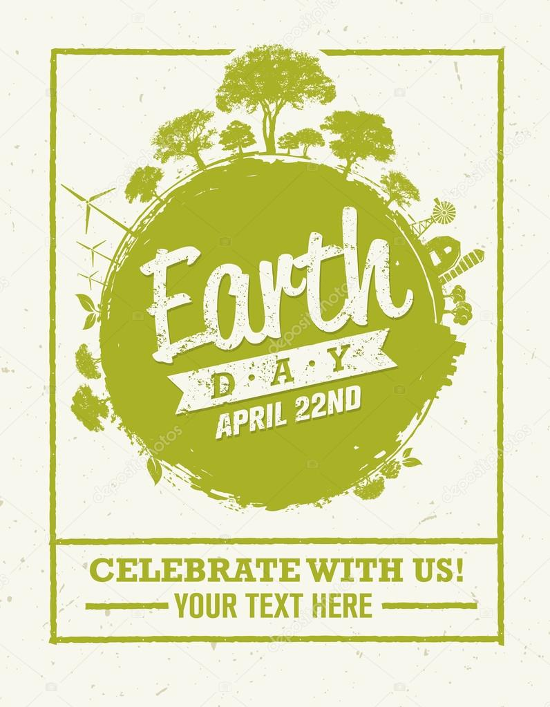 Earth Day Eco Poster Design