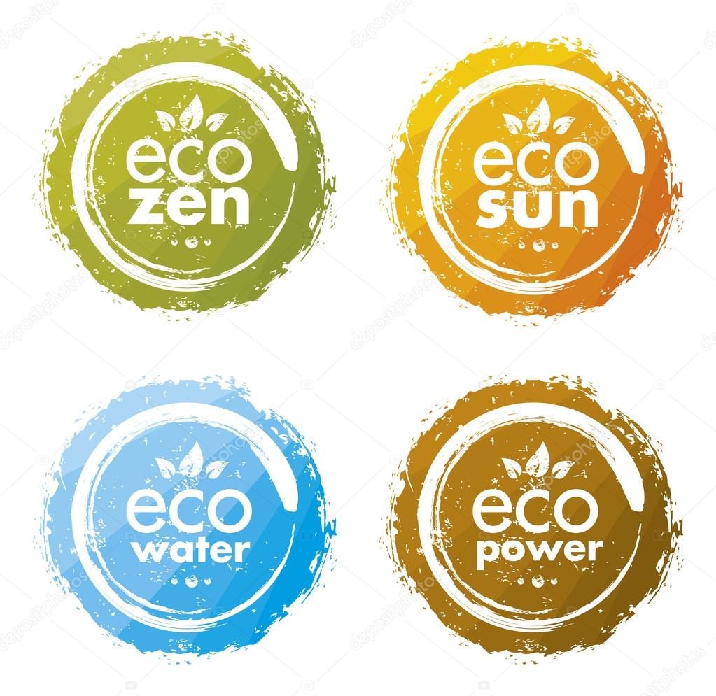 Eco Circle Design Elements