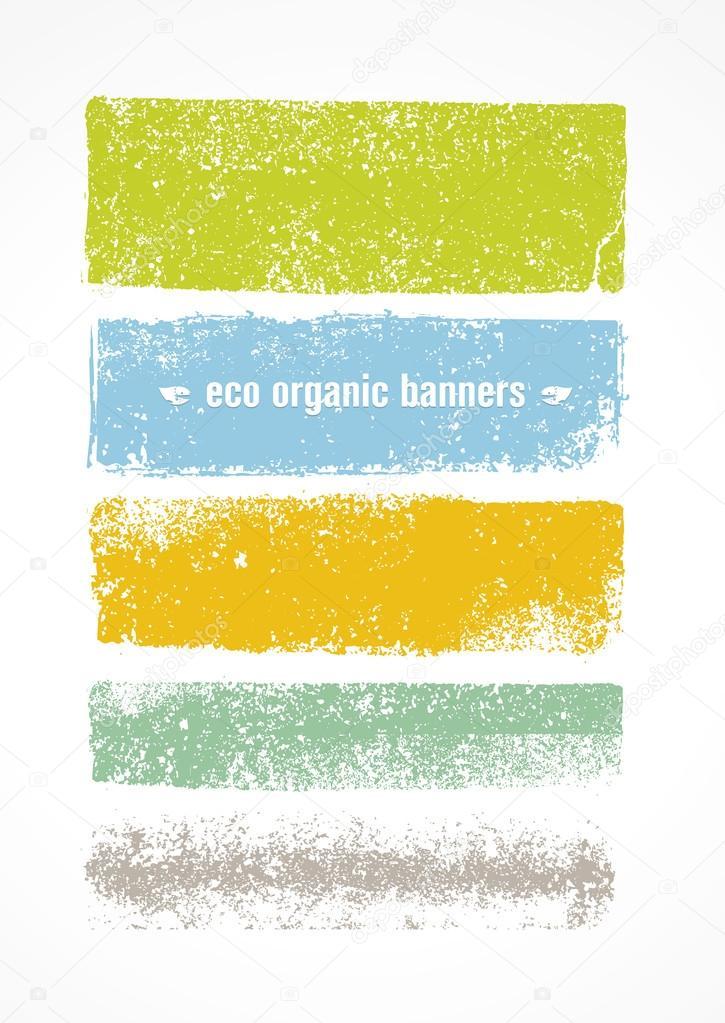 Eco Grunge Organic Banner Backgrounds