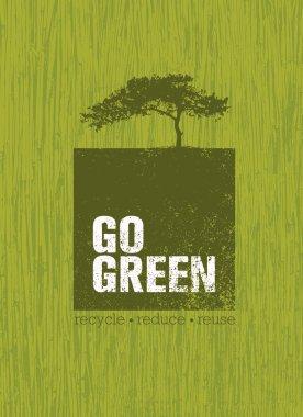 Go Green Creative Poster